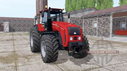 Belarús 3522 de color rojo brillante para Farming Simulator 2017