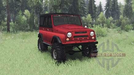 UAZ 469 negro-rojo para Spin Tires