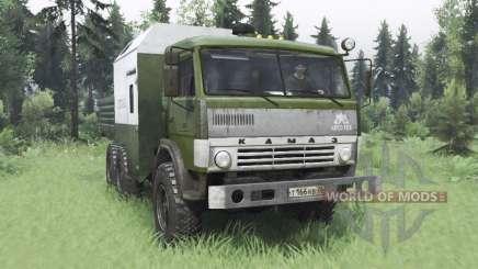 KamAZ 43114 verde v1.2 para Spin Tires