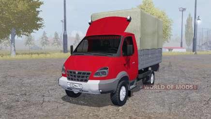 GAZ 3310 Valday 2004 rojo para Farming Simulator 2013