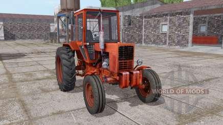 MTZ 80 Belarús es moderadamente rojo para Farming Simulator 2017