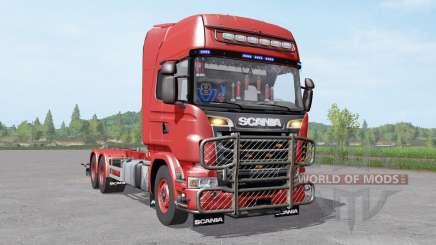 Scania R730 V8 Topline hooklift v1.1 para Farming Simulator 2017