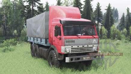 KamAZ 43114 rojo v1.2 para Spin Tires