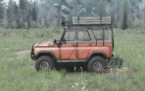 UAZ 31514 de 1993, sobre la carretera para Spintires MudRunner