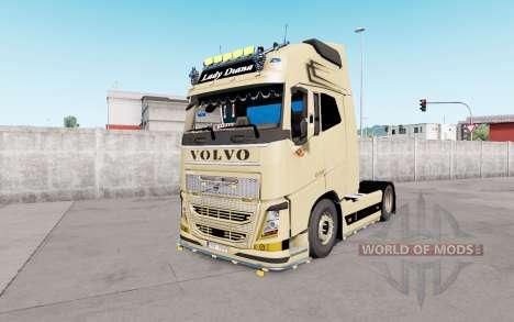 Volvo FH16 Globetrotter XL European Style v1.1 para Euro Truck Simulator 2