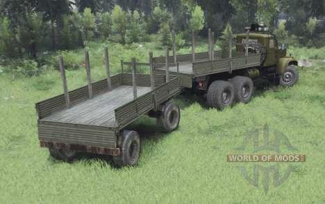 KrAZ 255B de oliva para Spin Tires