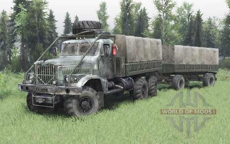 KrAZ 255 6x6-4 para Spin Tires