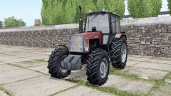 MTZ-1221 Bielorrusia, con controles interactivos para Farming Simulator 2017