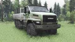 Ural 4320-6988-72Е5И06 doble cabina para Spin Tires