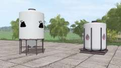 Refill Station with Solid and Liquid Manure