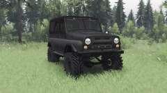 UAZ 469 gris oscuro para Spin Tires