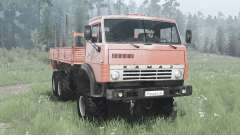 KamAZ 4310 6x6 suave-rojo para MudRunner