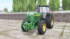 John Deere 4755 double wheels para Farming Simulator 2017