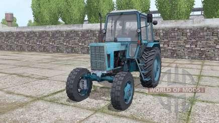 MTZ 80 Belarús tractor con cargador frontal para Farming Simulator 2017