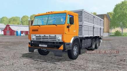 El 6x6 KamAZ 53212 con remolque para Farming Simulator 2015