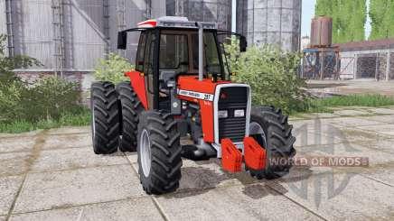 Massey Ferguson 297 Turbo dual rear para Farming Simulator 2017