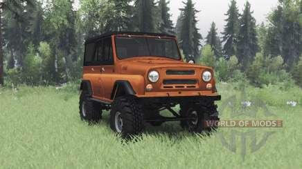 UAZ 469 negro y naranja para Spin Tires