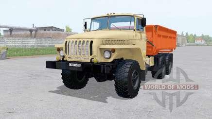 Ural 5557 6x6 con remolque para Farming Simulator 2017