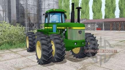 John Deere 8640 twin wheels para Farming Simulator 2017