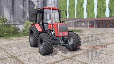 Belarús 826, con una selección de configuraciones para Farming Simulator 2017