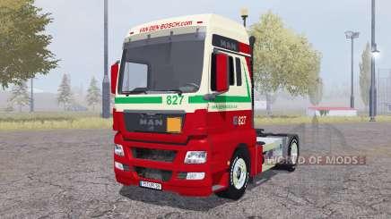 MAN TGX 4x4 Van den Bosch v2.0 para Farming Simulator 2013