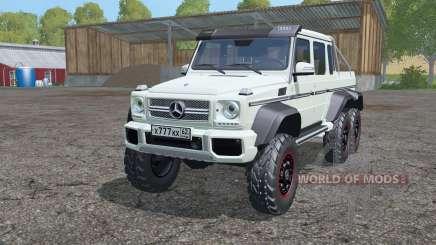 Mercedes-Benz G 63 AMG 6x6 (W463) 2013 para Farming Simulator 2015