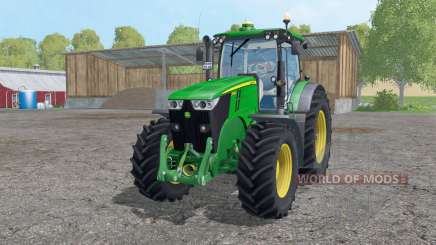 John Deere 7280R twin wheels para Farming Simulator 2015