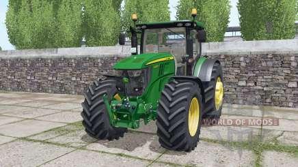 John Deere 6230R dynamic exhaust para Farming Simulator 2017