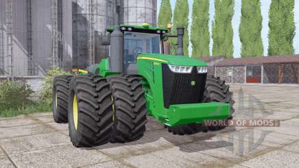 John Deere 9570R twin wheels para Farming Simulator 2017
