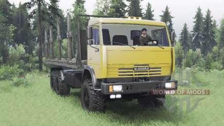 KamAZ 65111 moderadamente amarillo para Spin Tires
