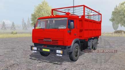 KamAZ 55102 con un remolque para Farming Simulator 2013