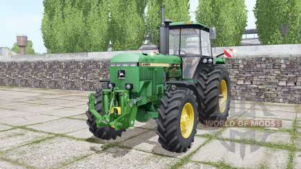 John Deere 4955 twin wheels para Farming Simulator 2017