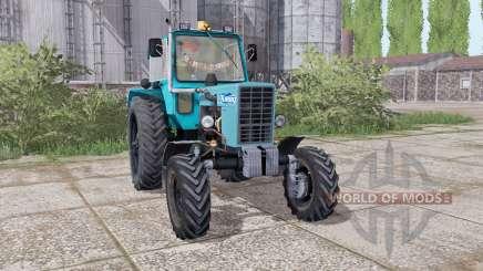 MTZ 82 Belarús tractor de ruedas duales traseras para Farming Simulator 2017