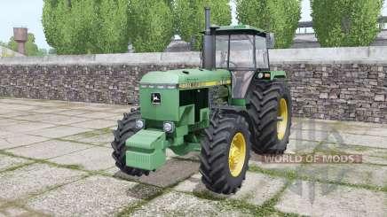 John Deere 4650 1988 twin wheels para Farming Simulator 2017