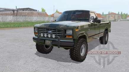 Ford F-150 4x4 Ranger camo 1982 para Farming Simulator 2017