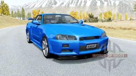 Nissan Skyline GT-R V-spec II (BNR34) 2000 para BeamNG Drive
