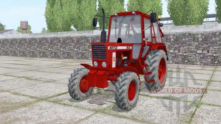MTZ 82 Belarús rojo oscuro para Farming Simulator 2017
