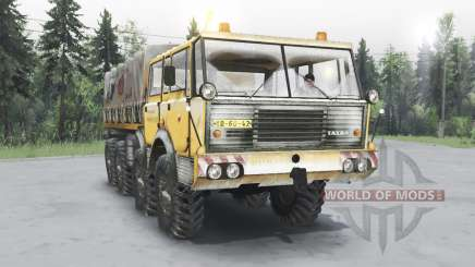 Tatra T813 TP 8x8 1967 invierno v1.4.1 para Spin Tires