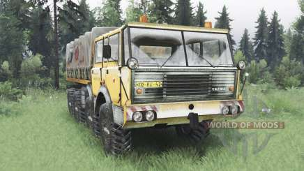 Tatra T813 TP 8x8 1967 invierno v1.5 para Spin Tires