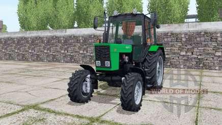 MTZ-82.1 Bielorrusia, con la animación de la luz verde de piezas para Farming Simulator 2017