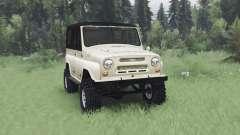 UAZ 469 beige v1.2 para Spin Tires