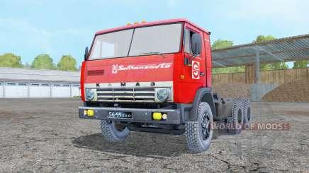 KamAZ 5410 with полуприцепơм para Farming Simulator 2015