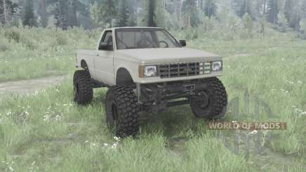 Chevrolet S-10 Single Cab 1984 para MudRunner