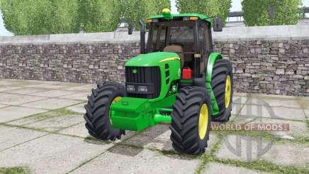 John Deere 6180J double wheels para Farming Simulator 2017