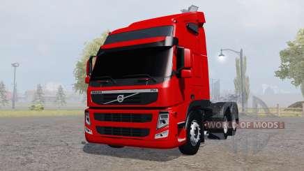 Volvo FM 370 tractor Globetrotter cab para Farming Simulator 2013