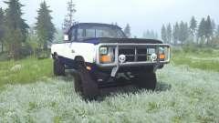 Dodge Power Ram Regular Cab (W250) 1990 lifted para MudRunner