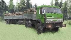 KamAZ 5350 verde para Spin Tires