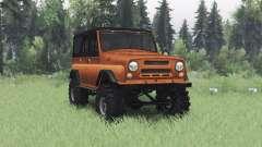 UAZ 469 naranja v1.2 para Spin Tires
