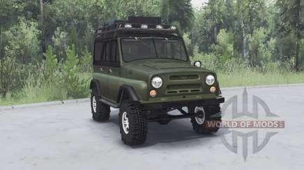 UAZ 469 caqui v1.2 para Spin Tires