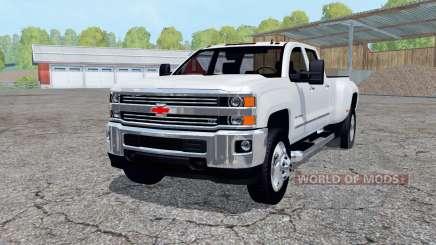 Chevrolet Silverado 3500 HD Crew Cab 2016 para Farming Simulator 2015